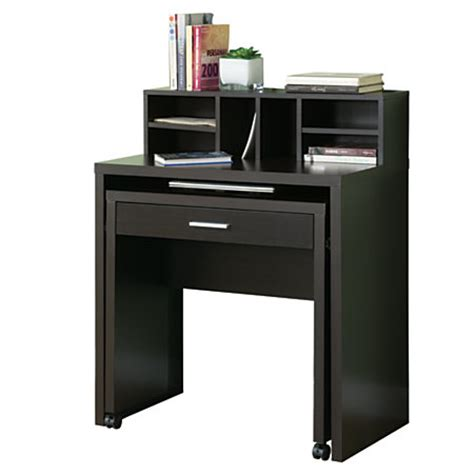 Space Saver Computer Desks Monarch Specialties Spacesaver Computer Desk 30 34 H X 31 12 W X 17 34 D Cappuccino By Office