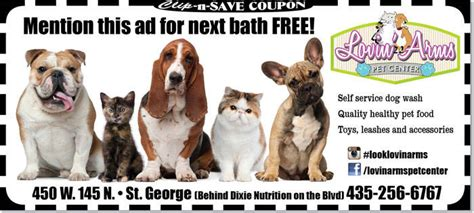 the puppy store st george pet store coupon st george free bath at lovin arms pet center