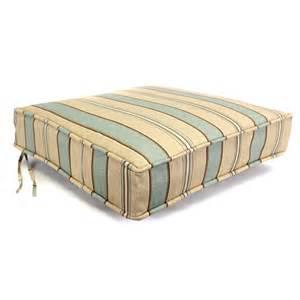 Deep Patio Chair Cushions by Shop Crestwood Stripe Spa Deep Seat Patio Chair Cushion At