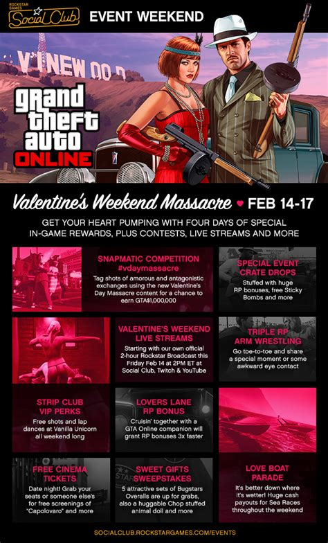 gta v valentines day the s weekend social club event