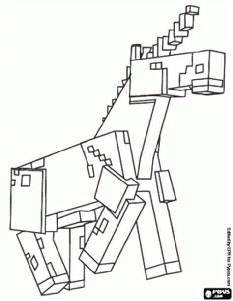 minecraft coloring pages horse the unicorn of minecraft coloring page minecraft