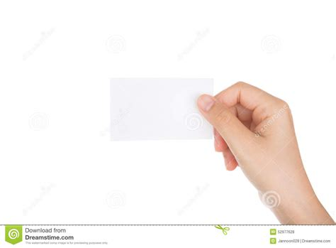 How To Make Paper Holding - holding blank paper business card isolated