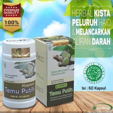 Obat Herbal Pelancar Haid Tidak Teratur jual herbal peluruh haid obat kista dgn tanaman temu putih