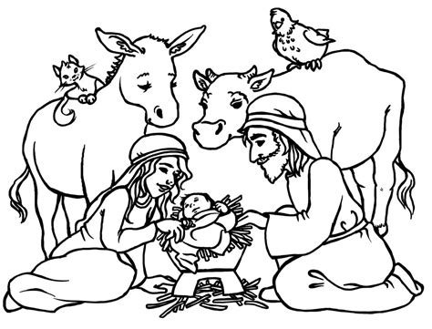printable coloring pages jesus birth free printable nativity coloring pages for kids best