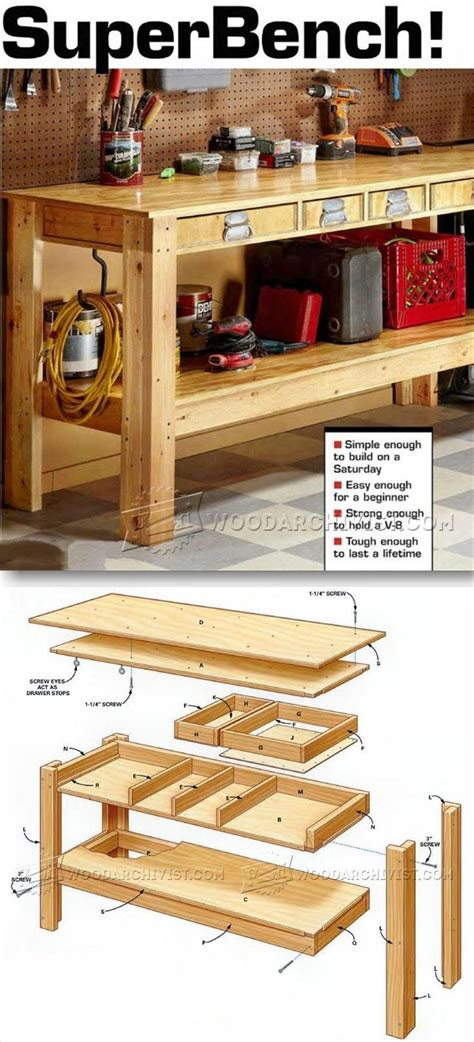 woodworking shop projects simple workbench plans workshop solutions projects tips