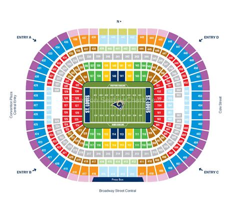 jones seating chart the dome at america s center st louis mo seating chart