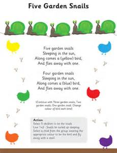 five garden snails poem eyfs amp ks1 poetry free early