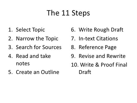 Steps On A Research Paper - 10 steps to writing a research paper
