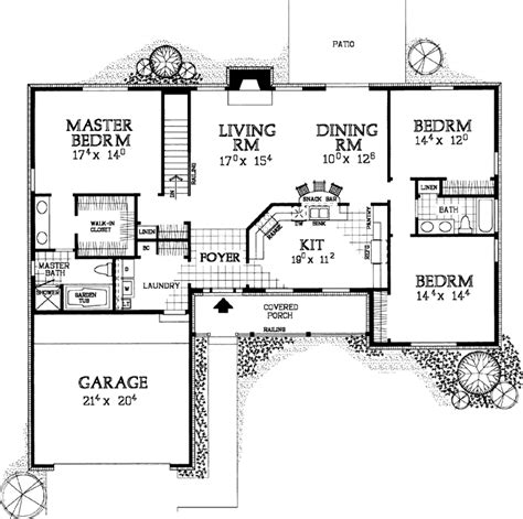 www monsterhouseplans com ranch style house plans 2076 square foot home 1 story