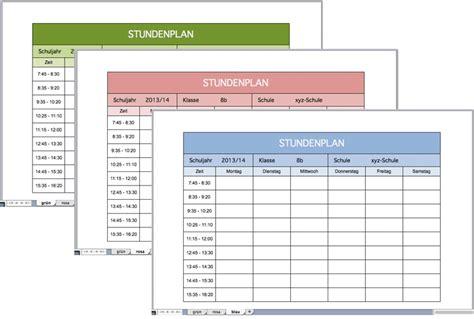 Vorlage Word Stundenplan Stundenplan F 252 R Die Schule Als Excel Vorlage Excel