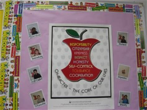 Character Education Themes Elementary   apple bulletin board for famous quotes quotesgram