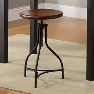 logan adjustable metal barstool with wood seat modern
