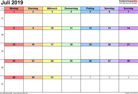 kalender juli  kalender