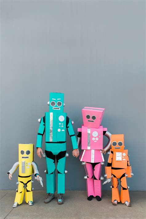 diy robot family costume  love  party