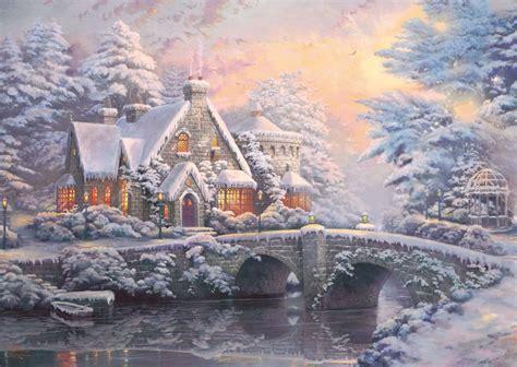 kinkade cottage 2 puzzles kinkade cottage en hiver et en et 233