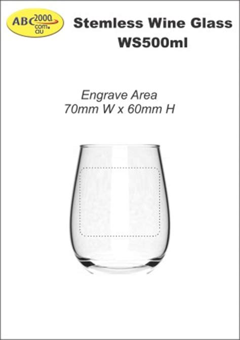 wine glass name tags template engraved stemless wine glass ws500ml