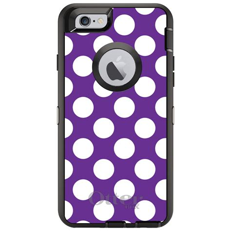 Softcase Iphone Small Polka Iphone 66plus Iphone 77plus otterbox defender for iphone 6 6s 7 8 plus x white purple polka dots ebay