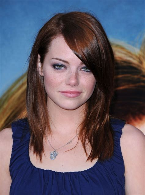 emma stone hairstyle emma stone emma stone with brown hair