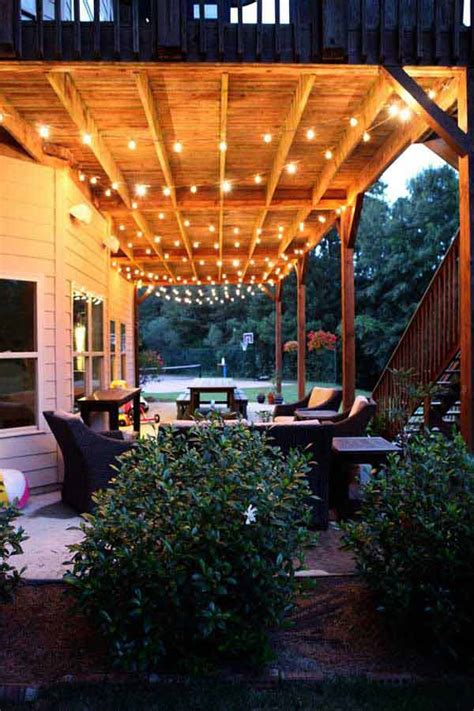 26 Breathtaking Yard And Patio String Lighting Ideas Will Outdoor Backyard Lighting Ideas
