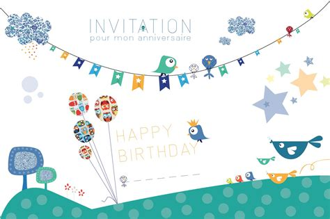 carte invitation anniversaire enfant carte invitation