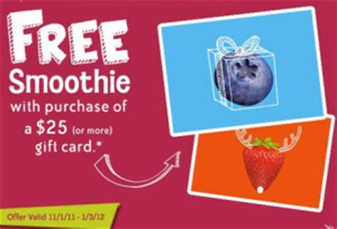 Www Jamba Com Gift Card Balance - jamba juice holiday gift card bonus deal spend 25 get free smoothie bargain believer