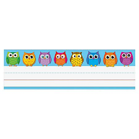 desk name plates office depot carson dellosa desk nameplates 9 12 x 3 owls pack of 36 by