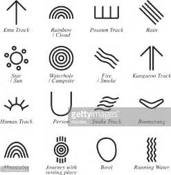 australian aboriginal art silhouette icons vector art