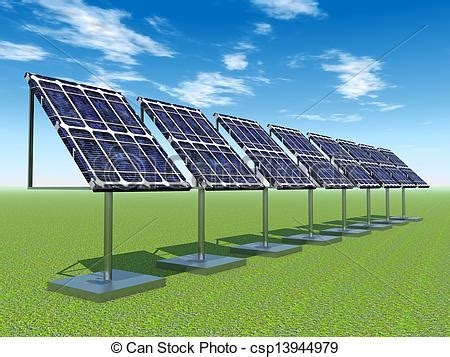 stock illustrations of solar power plant computer