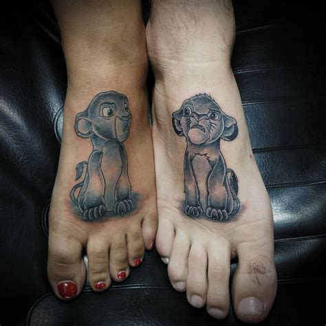 cute lion king couple tattoos venice tattoo art designs