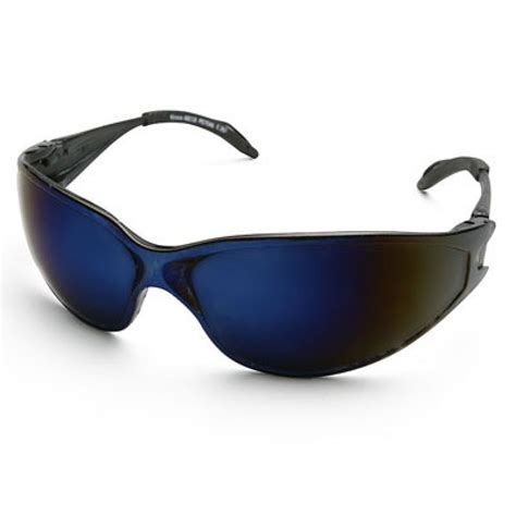 Safety Glass Blue Mirror Impact Resistant Kacamata Safety 1 Edge Kirova Safety Glass Blue Mirror Lens Edge Safety