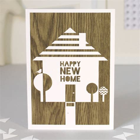 new home products happy new home greetings card by bonjour pony