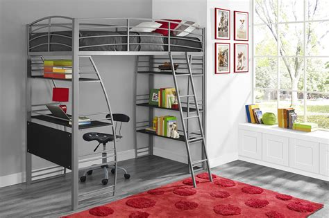 Bedroom Furniture With Desk Dhp Furniture Studio Loft Bed