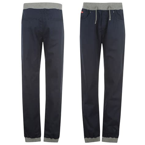 lee comfort fit pants lee cooper mens ribbed elasticated waist cuffed cotton