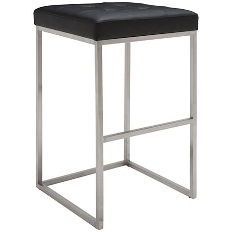 Nuevo Chi Bar Stool by Chi Bar Stool By Nuevo Living In Black And Stainless Steel