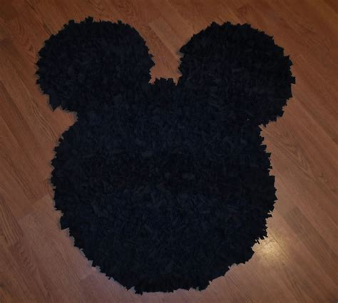mickey mouse rugs crafted decorative mickey mouse rug black t shirt upcycled shag 37 x 27 by rbienterprise