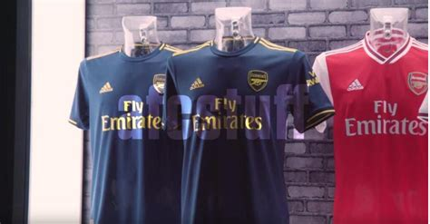 arsenal   kit leaked images show  classy  strip  hit