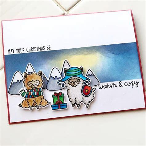 sunny studio stamps alpaca holiday customer card  rosie sunnies studios christmas themes
