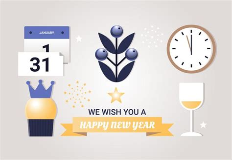 new year design vector free free flat design vector new year elements free