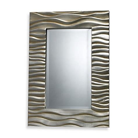 bed bath and beyond mirrors buy transcend mirror in silver leaf finish from bed bath