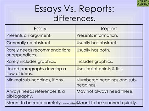 Difference Between Lab Report And Essay essay versus report writing original content