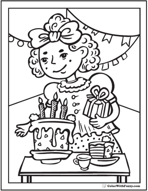 coloring page birthday party 55 birthday coloring pages customizable pdf