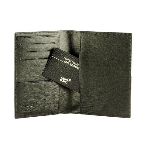 porta passaporto porta passaporto internazionale in pelle nera montblanc
