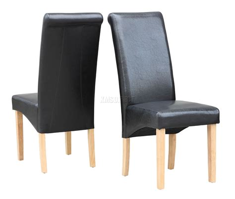 high back dining room chairs black modern dining room chair faux leather roll top