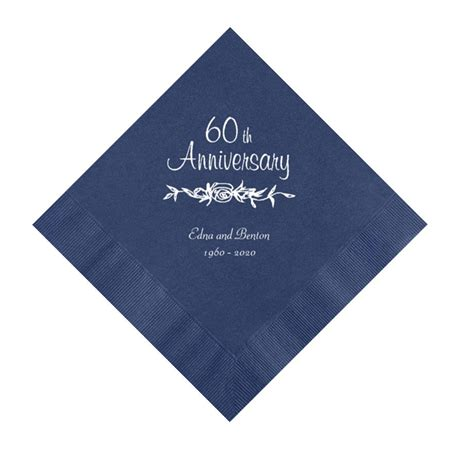 Wedding Anniversary Napkins by 60th Wedding Anniversary Napkins Personalized Set Of