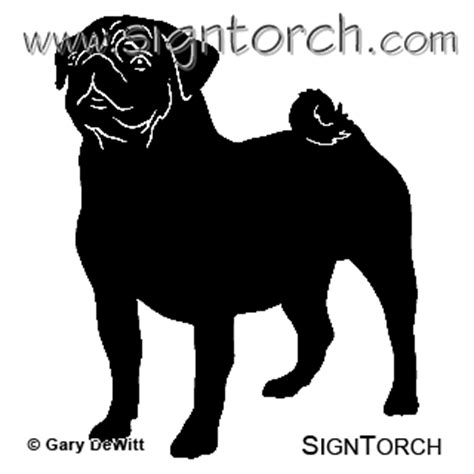 pug silhouette clip pug signtorch turning images into vector cut paths