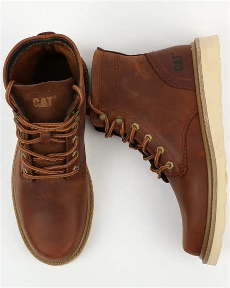 Caterpilar Leather caterpillar chronicle leather boots brown rugged durable shoes