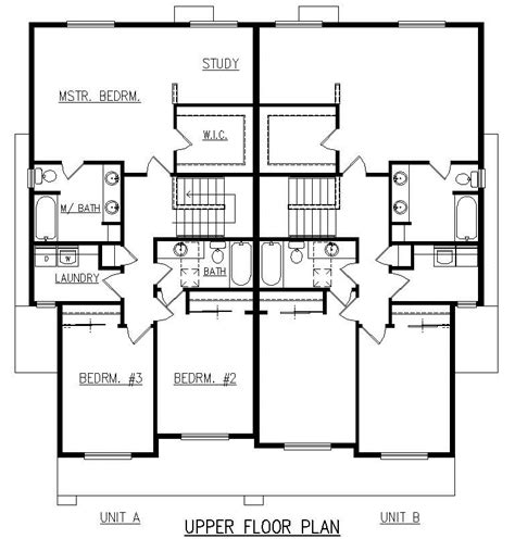 Duplex Floor Plans With Garage by 2 Bedroom Duplex Floor Plans Garage