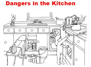 Kitchen Safety Worksheet by Spot The Difference Printable Worksheets For Kindergarten