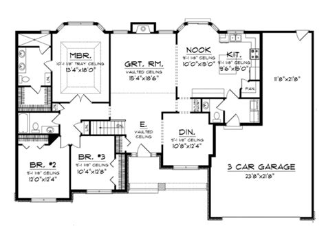 bay window floor plan eplans ranch house plan beautiful master suite with bay
