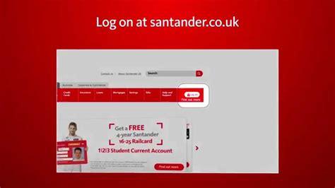 santander consumer bank banking log in santander banking how to log on